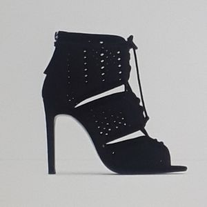 * Zara Lace Up Heels with Cut Out Design *